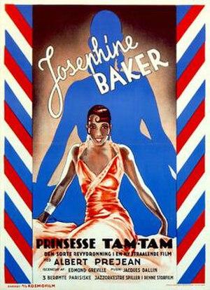 Princess Tam Tam - Danish film poster