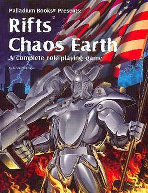 Rifts (role-playing game) - Cover of Rifts Chaos Earth: a Glitter Boy
