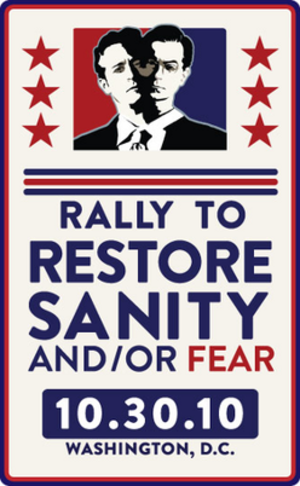 Rally to Restore Sanity and/or Fear - Poster for the rally