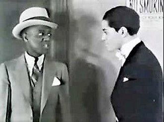"""Harlem Is Heaven - Bill Robinson (left) as himself and Henri Wessell as """"Chummy"""" Walker in Harlem Is Heaven, 1932"""