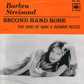 Second Hand Rose (song) - Image: Second Hand Rose Barbra Streisand