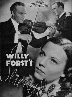 <i>Serenade</i> (1937 film) 1937 German drama film directed by Willi Forst