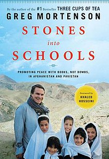 <i>Stones into Schools</i> book by Greg Mortenson