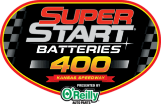 Super Start Batteries 400 Annual auto race held at Kansas City