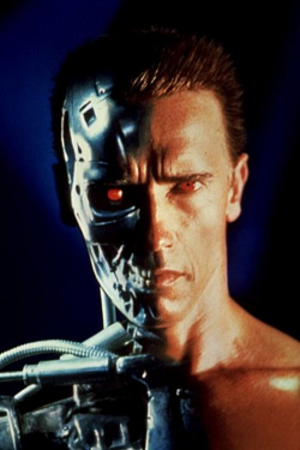 Terminator (character) - Arnold Schwarzenegger as the Terminator (Model 101), in the promotional art of Terminator 2: Judgment Day