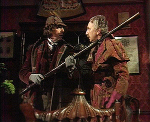 The Talons of Weng-Chiang - The Doctor (Tom Baker) and Professor Litefoot (Trevor Baxter)