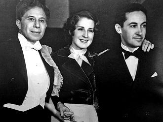 Irving Thalberg - Sid Grauman (L), Norma Shearer, Thalberg, 1932