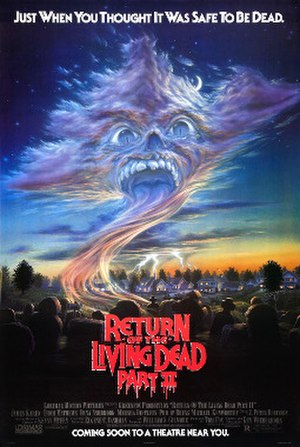 Return of the Living Dead Part II - Theatrical release poster