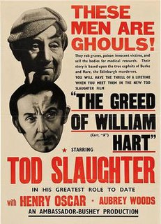 <i>The Greed of William Hart</i> 1948 film by Oswald Mitchell