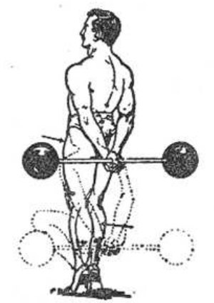 "Squat (exercise) - The Hack squat as pictured page 70 of George Hackenschmidt's book ""The Way to Live"" (1908)"