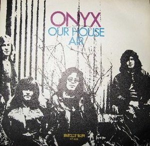 "Onyx (Cornish band) - A rare Spanish picture sleeve of Onyx's 1971 single, a cover version of the Crosby, Stills, and Nash song ""Our House"" with the B-side ""Air"""