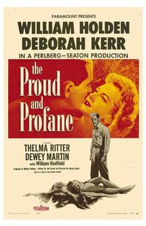 The Proud and Profane - Original film poster