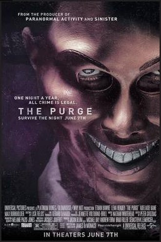 The Purge (2013 film) - Theatrical release poster