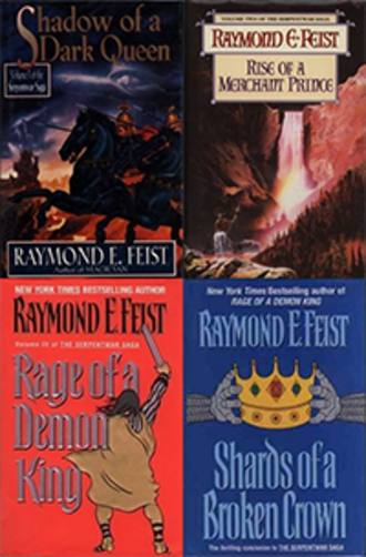 The Serpentwar Saga - First edition covers.