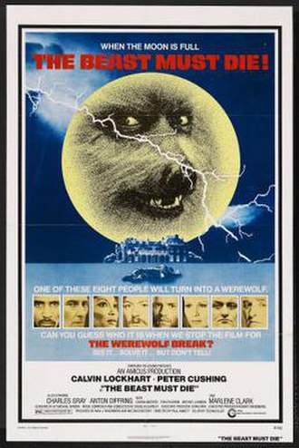 The Beast Must Die (1974 film) - Theatrical release poster