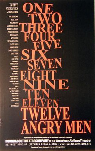 Twelve Angry Men (play) - Image: Twelve Angry Men Roundabout