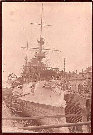 USS Albany (CL-23) - 1903 U.S.S. Albany in dry dock Boston, Massachusetts
