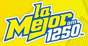 XEZT-AM - Image: XEZT La Mejor 1250 logo