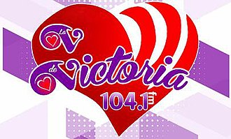 XHRPV-FM - Image: XHRPV La Vde Victoria 104.1 logo