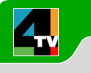 XHTV-TDT - Logo as 4-TV Canal de la Ciudad, used full-time from September 2008 to August 2010.