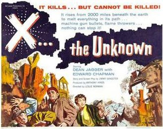 X the Unknown - Theatrical release poster