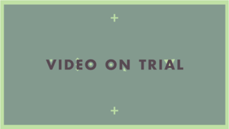 Video on Trial - The opening title card for Video on Trial, starting in season 9