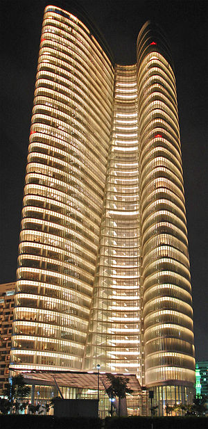 Abu Dhabi Investment Authority Tower - ADIA Tower at night