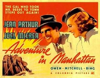 Adventure in Manhattan - Theatrical poster
