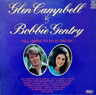Bobbie Gentry and Glen Campbell - Image: All I Have to Do Is Dream album cover