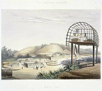 Plimmerton - Taupo village, George French Angas, 1822-1886