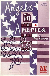 angels in america  front cover of the programme for the 1992 national theatre production of part one of the play angels in america