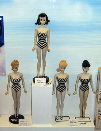 Fashion doll - The original Barbie fashion doll from March 1959
