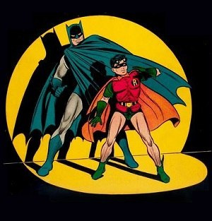 Batman - Batman and Robin. Art by Jack Burnley.