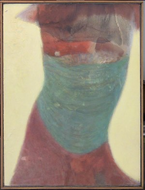 Bernard Childs - Bernard Childs, How Green Is My Belly, 1965, Oil and graphite on linen, 24 x 19 inches