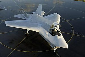 Boeing X-32 - Boeing's JSF production mockup. Note the separate wing and tailplanes.