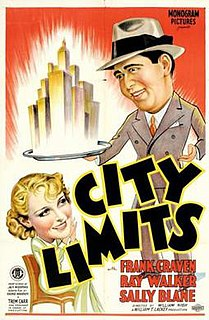 <i>City Limits</i> (1934 film) 1934 film by William Nigh
