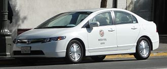 Parking enforcement officer - Honda Civic Hybrid used in Chinatown, Los Angeles