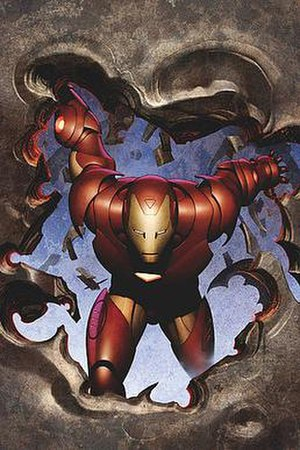 Iron Man in his Extremis armor: The Invincible...