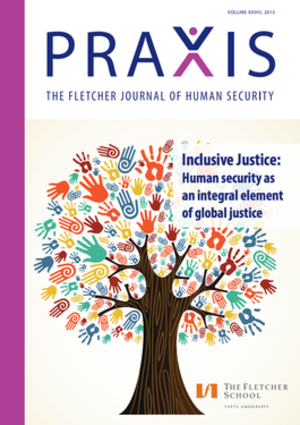 PRAXIS: The Fletcher Journal of Human Security - Image: Cover of academic Journal PRAXIS, The Fletcher Journal of Human Security