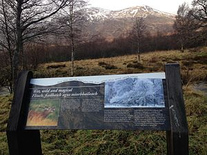 Creag Meagaidh - An information board at Creag Meagaidh National Nature Reserve