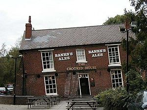 Subsidence - Subsided house, called The Crooked House, the result of 19th-century mining subsidence.
