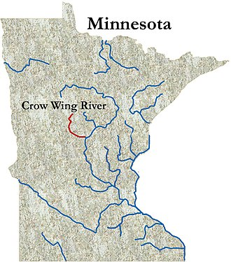Crow Wing River - Image: Crowwingrivermap