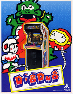 <i>Dig Dug</i> 1982 arcade game