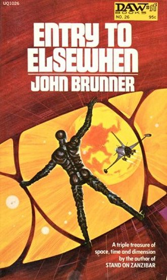 Entry to Elsewhen - First edition (publ. DAW Books) cover art by Jack Gaughan