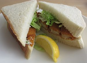 Fish sandwich - Fish finger sandwich