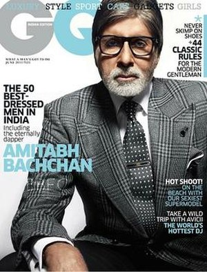 GQ (Indian edition) - Amitabh Bachchan on the June 2015 cover of GQ