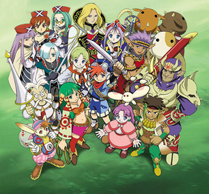 Grandia (video game) - The extended cast of Grandia, including main and supporting characters.