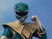 Tommy as the Green Power Ranger