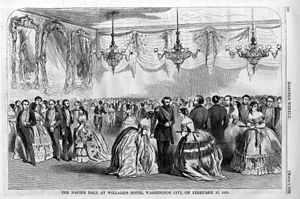 Teresa Bagioli Sickles - A typical ball or fete of the period – Napier Ball