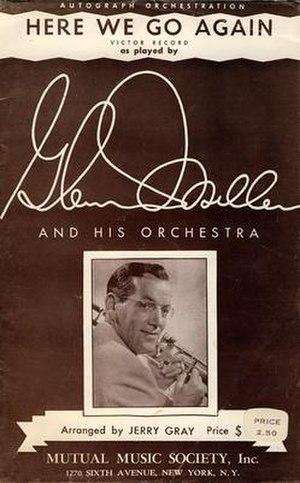 Here We Go Again (Glenn Miller song) - 1943 sheet music cover, Mutual Music Society, New York.